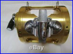 PENN Vintage Fishing Reel International II 80TW Gold made in USA scratches