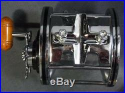 PENN Vintage Fishing Reel Senator 12/0 Silver made in USA scratches and dirt