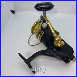 Pair Of Vintage Fishing Spinning Reel PENN 4500ss Metal Handles Gold Black Read
