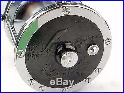 Penn 114 6/0 Reel Vintage, Black Sailfish Plate Stainless Gear Shaft Main Pinion