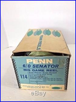 Penn 114 6/0 SENATOR Big Game Fishing Reel Made in USA