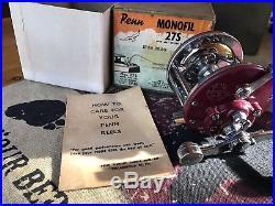 Penn 27 Monofil Reel in Very Rare Rose Fucsia Color With Original Box