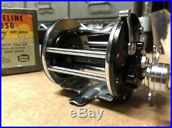Penn 350 Leveline Silver Anniversary Vintage reel With Box