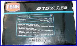 Penn 515 MAG2 sea fishing multiplier reel with makers original box, mint