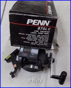 Penn 875LC Level Wind with Line Counter 4.11 Baitcast Reel RARE Vintage NIB