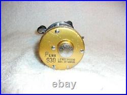Penn 930 Levelmatic Bait Casting Reel Excellent Work Condition Clean