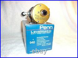 Penn 940 Levelmatic Bait Casting Reel 1990's New In Box