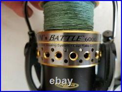 Penn Battle 6000 Spinning Reel Heavy Duty Surf / Pier Fishing w 50lb Braided