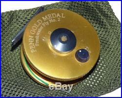 Penn Gold Medal Fresh Water Fly Reel No 2 gold finish rare model