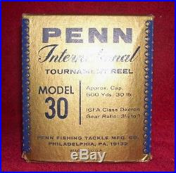 Penn International 30 VINTAGE Big Game Reel with BoX NEW UNUSED