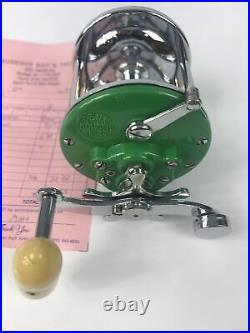 Penn Monofil No 26 Reel Green Side Plates Just Professionally Serviced See Pics