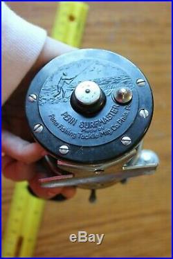 Penn No 100 Surfmaster Fishing reel vintage black handle conventional