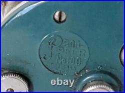 Penn-Peer 109 Level Wind Casting Reel Green Sideplates 1955-56 30-109