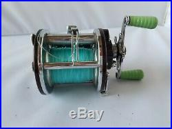 Penn Peer No 109 Vintage Fishing Reel Green Rare Excellent Condition