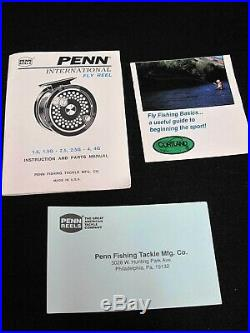 Penn Reels International 2.5g Gold Fly Reel with Box and Pouch UNUSED