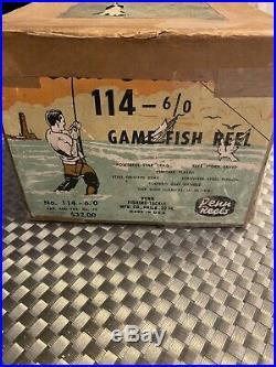 Penn Reels Senator 114 6/0 Big Game Fishing Reel Vintage Original Box USA