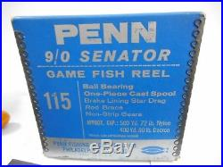 Penn Senator 115 9/0 Game Fishing Reel Boxed With Manual & Accessories