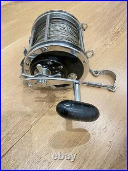 Penn Senator 115 9/0, Turnbuckle & Rod Clamp. Very Nice Vintage Fishing Reel