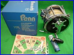 Penn Senator 14/0 big game sea fishing reel 117L with hand books and box