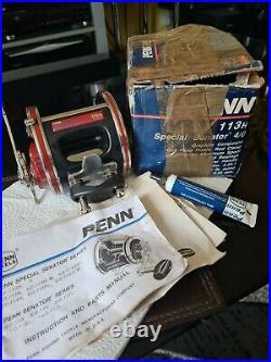 Penn Senator 4/0 113h Vtg Big Game Reel (usa) In Fantastic Condition Fully Boxed