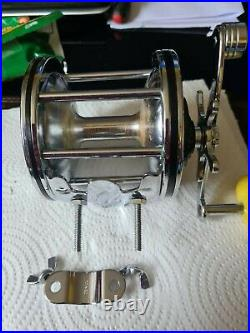 Penn Senator 4/0 Vtg Big Game Reel In A Superb Used Condition+rod Clamp See Pics