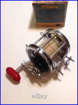 Penn Senator 6/0 Big Game Conventional Reel WithBox And Accessories USA Lot P-64