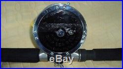 Penn Slammer 7' Fishing Rod & Reel M#49 with Line Combo Vintage Used Estate Nice