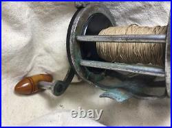Penn Surfmaster 156 No Part NumberReel 200 YDS Used Picture Sideplate 1940s