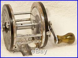 RARE 1938 PENN LONG BEACH No. 60 Casting Reel 250 Yd. Resin Knob withOiler. WOW