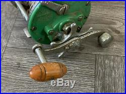 RARE! Collector's Vintage Penn Monofil 26 Fishing Reel Green PM26 Bait Caster