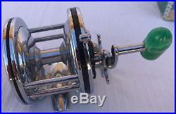 RARE MINT Penn'Senator' 110 Green Torpedo Handle Metal Spool Fishing Reel