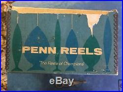 RARE VINTAGE PENN SENATOR 114 6/0 SALT WATER FISHING REEL with BOX & WRENCH