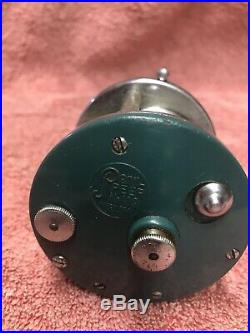 RARE VINTAGE Penn 109 GREEN Levelwind COLLECTOR REEL, HARD TO FIND