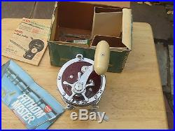 RED Vintage Unused PENN SENATOR 114H 6/0 Saltwater Reel in Box Philadelphia USA