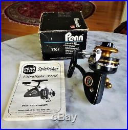 Rare Penn 716Z Ultra Light Spinning Reel USA Never Used Original Box Papers Wrap