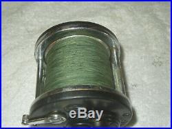 Rare Vintage 1930's Penn LONG BEACH Reel Wood Handle, Knurled Button
