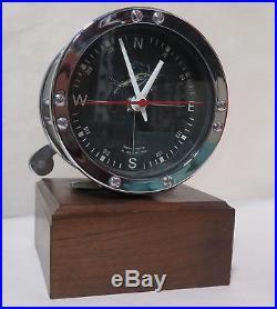 Rare Vintage 1972 Marine Time Co Penn No. 49 Fishing Reel Desk Clock