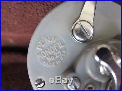Rare Vintage Gray PENN MONOFIL No. 25 Big Game Reel withBOX GOOD COND