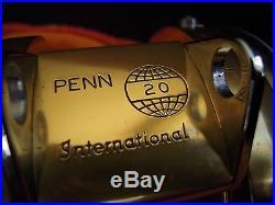 Rare Vintage Penn International 20 Big Game Reel withBag&Box NEW OTHER