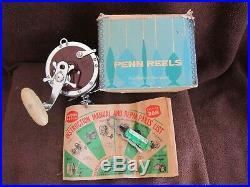 Rare Vintage Penn No. 349H Master Mariner Big Game Reel withBOX EXEC COND