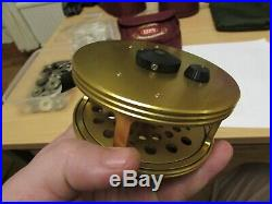 Stunning sharpes penn gold medal freshwater no 4 salmon fly fishing reel + pouch