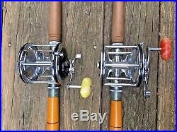 TWO PENN Senator 4/0 30-113 Reels & 2 VARMAC RS-3 80 Rods Saltwater Fishing VTG