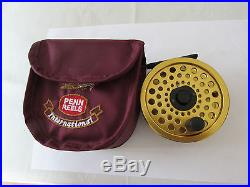 Unused penn gold medal freshwater fly fishing reel no. 3 by sharpes of aberdeen
