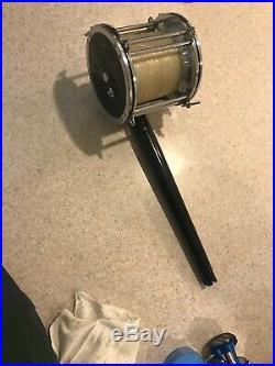 VERY RARE Vintage Penn Senator Reel Model 118 16/0 AND SHARK ROD COMBO! BIG GAME