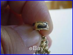 VINTAGE 14K GOLD MOVEABLE PENN INTERNATIONAL FISHING REEL PENDANT / CHARM 14.2gr