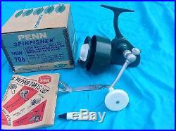 Vintage Penn 706 Spinfisher Greenie Fishing Spinning Reel Brand New In Box