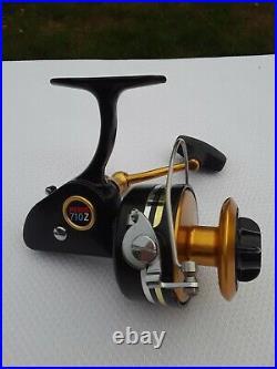 VINTAGE PENN 710Z SPINFISHER MEDIUM Lefty SALTWATER FISHING REEL Made in USA EUC
