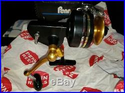 VINTAGE PENN 710 Z SPINFISHER MEDIUM SALTWATER FISHING REEL WithBOX & MANUAL