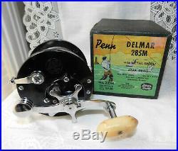 VINTAGE PENN DELMAR 285M FISHING REEL With ORIGINAL BOX