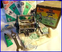 VINTAGE PENN PEER MONOFIL 209 RARE TEAL GREEN REEL IN BOX, COMPLETE